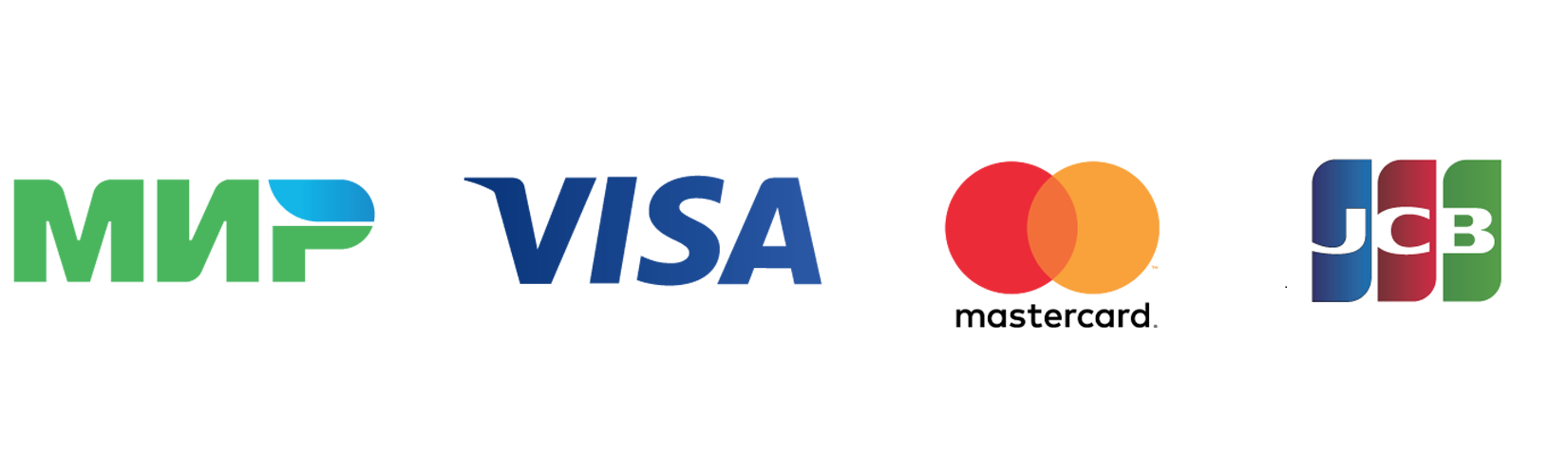 МИР VISA International Mastercard Worldwide JCB